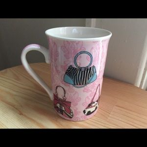 Kent Pottery Pink Porcelain Coffee Mug Purses